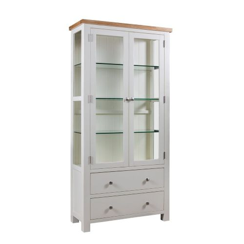 Elworth Painted Display Cabinet with Glass Doors